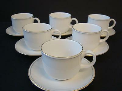 Marks And Spencer Lumiere 6 X Cups And Saucers