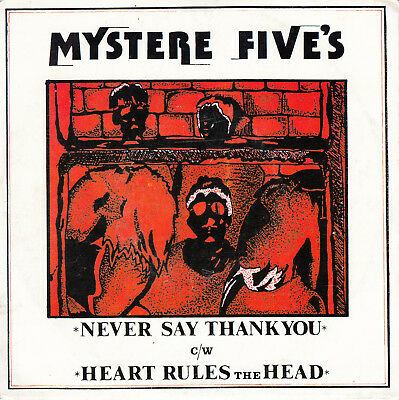 "MYSTERE FIVES Never Say Thank You 7"" France 1980 Heart Rules The Head"