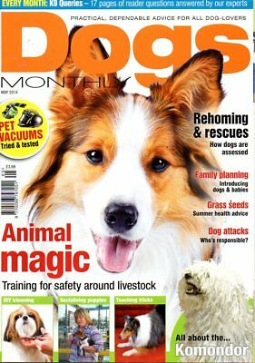Dogs Monthly Magazine May 2014 KOMONDOR TEACHING TRICKS DIY TRIMMING REHOMING