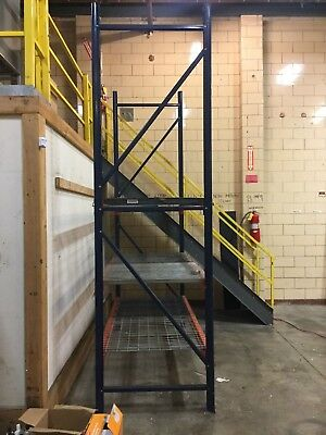 Industrial warehouse metal Rack with 3 shelves (12 ft high)