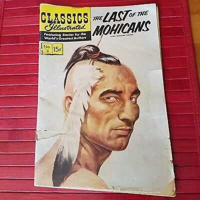 Classics Illustrated Comic Book (THE LAST OF THE MOHICANS) 1964  Fair condition