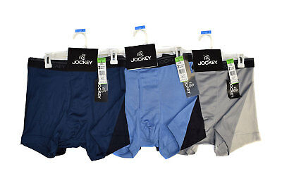 Assorted 4 Pack of Jockey Boxer Brief Temperature Controlled In Sizes Small - XL