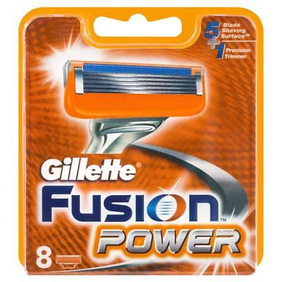 Gillette Fusion Power Blades 8 Pack - (100% GENUINE UK) - Fast Delivery