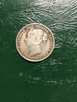 1888 Newfoundland Sterling Silver 50 Cents