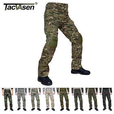 TACVASEN Mens Tactical Combat Camouflage Pants Military Soldier CS Army Trousers
