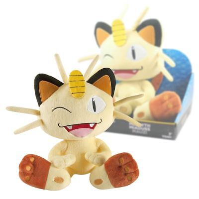 "New Pokemon 10"" Winking Meowth Large Soft Plush Toy TOMY Official"