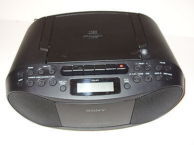 Sony Cfd-S70 Portable Cassette Radio Boombox Cd Player Fm/am Tuner Mega Bass