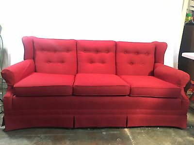 Vintage Red Sofa Couch