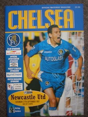 1997....CHELSEA  v  NEWCASTLE UNITED......Premiership...(as good mint condition)