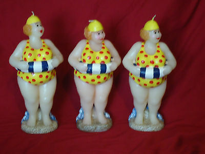 Novelty Humourous Funny Beach Babe Candles x 3