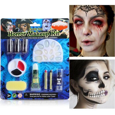 Make up Gesicht Farbe Palette Spaß Halloween Horror Fancy Malerei Kit Set Tools