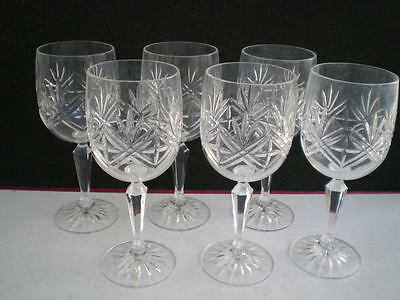 6 Verres Cristal Signes Edinburgh Crystal Vin Ecosse Cuisine Table