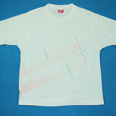 Vintage 80s PASTEL PATTERN Abstract Retro New Wave Vaporwave Tee T Shirt Small S