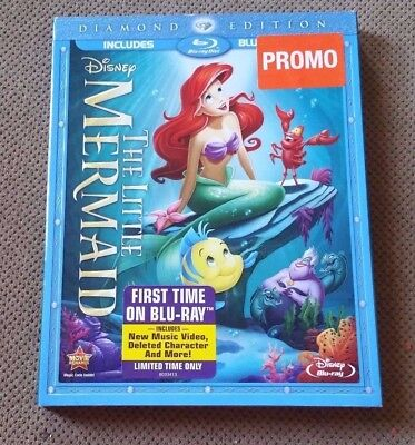 🎥 Disney THE LITTLE MERMAID Blu-Ray/DVD VAULTED Diamond Edition NEW + SLIPCOVER