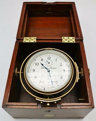 Thomas Mercer Chronometer Boxed Ships Detent Fusee 56Hr Wind 2 Day Martine Clock
