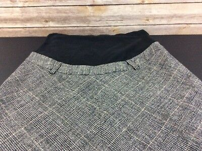 H&M Mama Maternity Stretch Skirt Size M Lined Wool Gray Black Career Winter CUTE