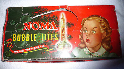 Vintage Bubble Lights Box Cat. No.  509 Holds 9 Noma Biscuits