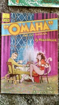 Omaha The Cat Dancer comic 1,2,3,9 underground adult only