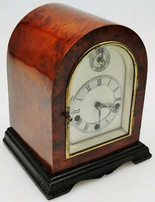 Super Rare Burr Amboyna Musical Chiming Bracket Clock Westminster 5 Coiled Gongs