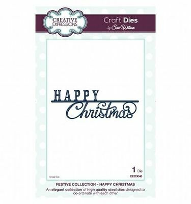 Creative Expressions Festive Collection- Happy Christmas CED3046