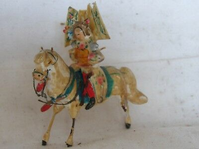 Chine Xviii Em? Miniature Exceptionnelle Terre Cuite Emaille Vernissee Cavaliere