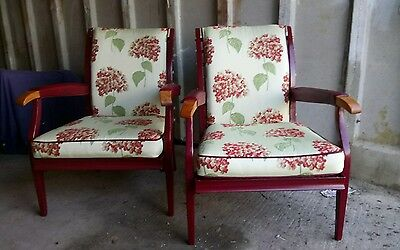Pair Of 1949 Parker Knoll Toledo Aluminium Chairs
