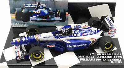 MINICHAMPS ROTHMANS WILLIAMS RENAULT FW17b D.HILL AUSTRALIAN GP 1995 1/43