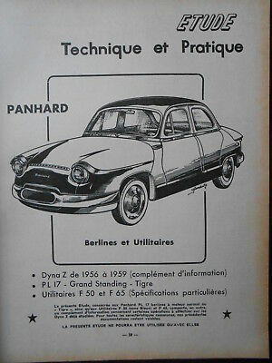 ► Revue Technique Automobile N°172 - Panhard Pl 17 - 1960