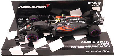 Minichamps Chandon Mclaren Honda Mp4-31 J.button Abu Dhabi Gp 2-16 1/43 F1