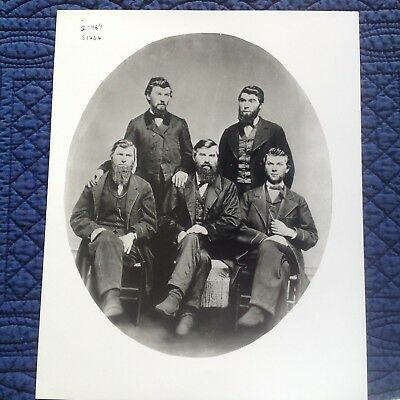 Early Studebaker Photograph Of The 5 Studebaker Brothers