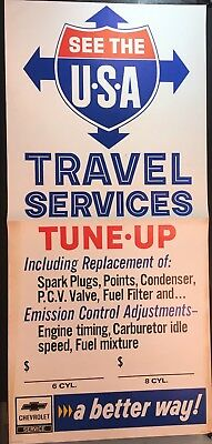 Vintage Chevrolet service station poster See the USA a Better Way