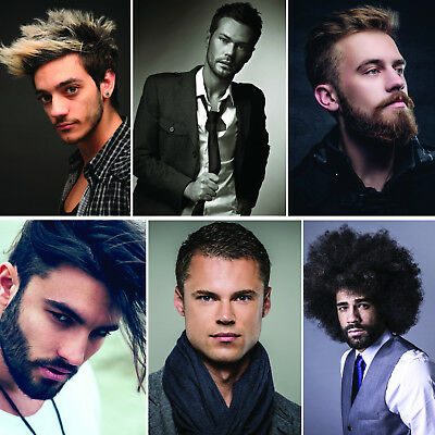Male Hair Design, Hair Dresser, Barber, Posters Upto A0 Size,  Frames Available.