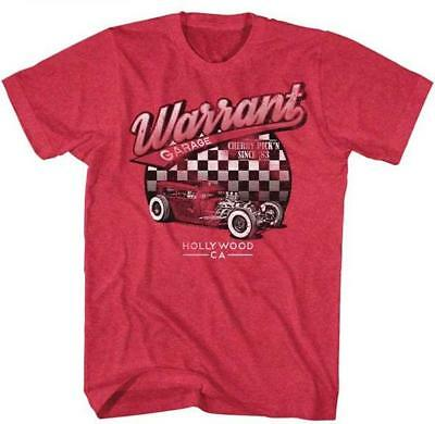 WARRANT Garage 1983 Hot Rod Glam Hair Metal CLASSIC Rock Band Concert T-Shirt