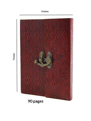 Store Indya Leather Diary Journal Planner Embossed with Floral Design Thread...
