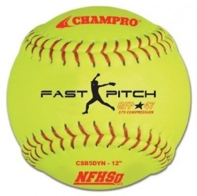 Champro NFHS Synthetic Cover, Red Set (Optic Yellow, 30.5cm ). Shipping Included