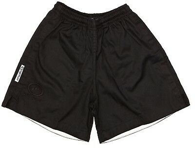 (60cm , Black) - Optimum Boy's Auckland Rugby Short. Free Delivery