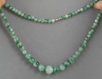Collectable Handwork Decor Burnish Jade Carve Texture Glossy Bead Lucky Necklace