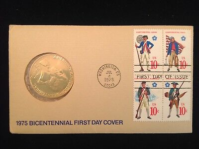 1975 Bicentennial First Day Cover Paul Revere Medal American Revolution Continen