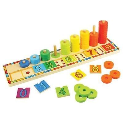 Bigjigs Toys Learn to Count - Educational Wooden Counting Toy - (French Version)