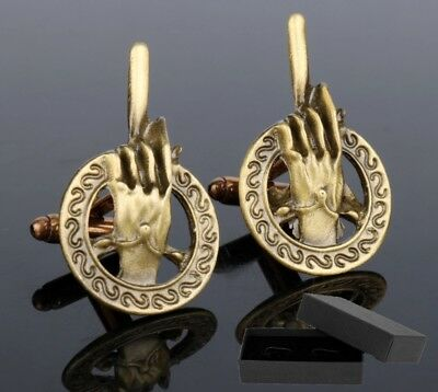 Hand Of The King Cufflinks - Game Of Thrones - Antique Bronze Or Pewter - Gift