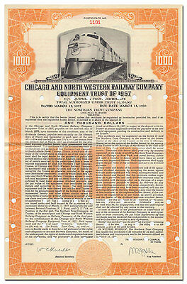 Chicago and North Western Railway Company Bond Certificate