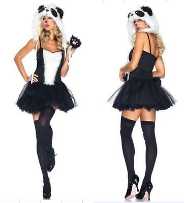 Sexy Black Rabbit Bunny Costume Halloween Ears Fancy Dress Party Cosplay UK