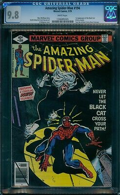 Amazing Spider-Man 194 CGC 9.8  1st Black Cat  White Pages!