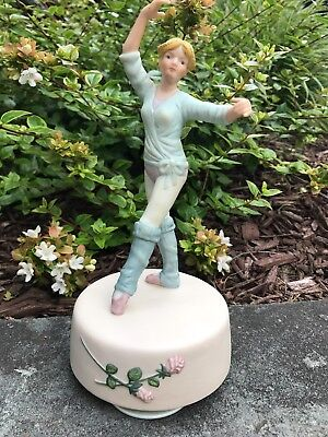 Vintage Porcelain Ballerina Figurine Music Box Nutcracker Waltz of Flowers