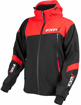 FXR Mens Black/Red Renegade Waterproof Softshell Jacket Outerwear