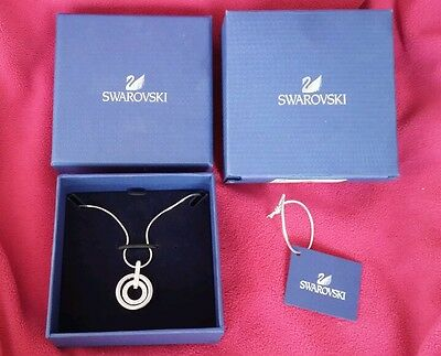 SWAROVSKI Jewelry CIRCLE PENDANT Necklace 681251 Pave Chain Crystal NEW IN BOX