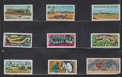 (U32-17) 1960-70 Republic of Guinea mix of 35 stamps valued to 400F (I)
