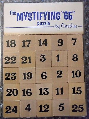 Mystifying 65 Sudoku-style Wood Puzzle Game 1970s by Crestline Solitaire Logic