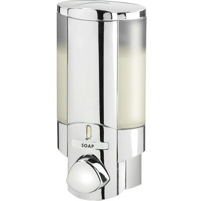 AVIVA Single Bottle Shower Dispenser Chrome Wall Mount Push Button Shampoo Soap