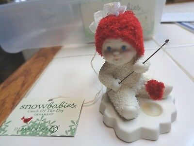Dept 56 Snowbabies Ornament Catch Of The Day Mint